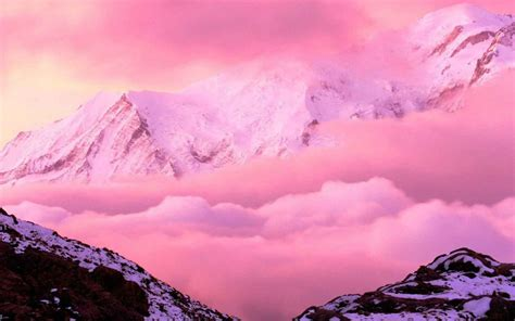 Pink Mountains | HD Nature Wallpapers for Mobile and Desktop
