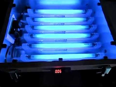 PCB Exposure Box with UV fluorescent lamps - YouTube