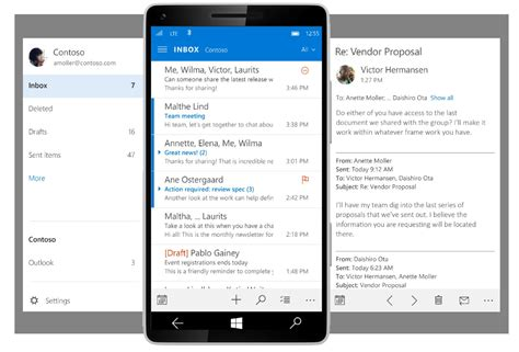 The Upcoming Outlook Mobile App For Windows 10 Looks