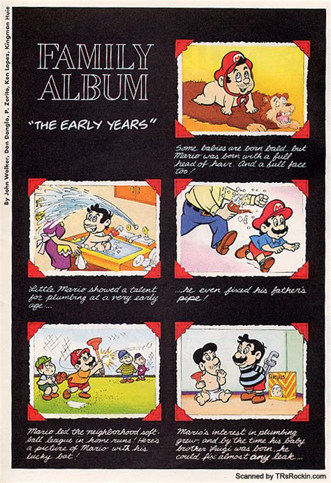 """Family Album """"The Early Years"""" - Super Mario Wiki, the"""