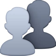 Busts in Silhouette Emoji — Meaning, Copy & Paste