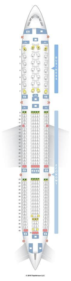 US Airways Airbus A321 (321) Seat Map   Travel   Pinterest