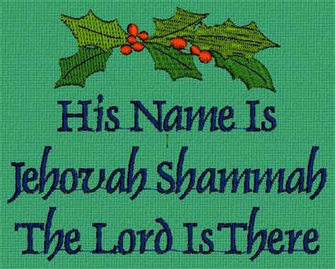 Names of God ~ Holly Quilt